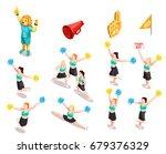 cheerleading competition sport... | Shutterstock .eps vector #679376329