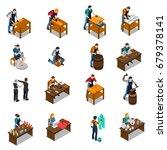craftsman set of isometric... | Shutterstock .eps vector #679378141