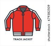 red track jacket sportswear... | Shutterstock .eps vector #679382509