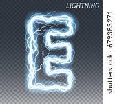 lightning and thunder bolt or...   Shutterstock .eps vector #679383271