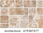 abstract home decorative paint... | Shutterstock . vector #679387477
