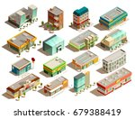 modern urban store buildings of ... | Shutterstock .eps vector #679388419
