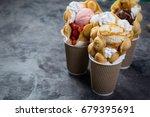 hong kong waffles | Shutterstock . vector #679395691