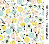 seamless pattern with abstract... | Shutterstock .eps vector #679398181