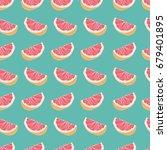 grapefruit seamless vector...   Shutterstock .eps vector #679401895