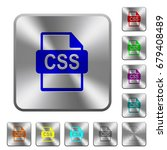 css file format engraved icons... | Shutterstock .eps vector #679408489