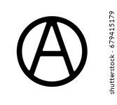 anarchy symbol icon. vector. | Shutterstock .eps vector #679415179