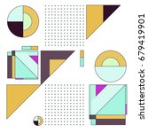 trendy geometrical vector... | Shutterstock .eps vector #679419901