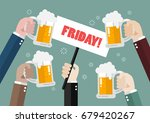 hands holding friday sign.... | Shutterstock .eps vector #679420267