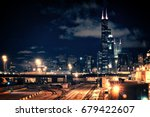 Chicago Skyline Cityscape At...