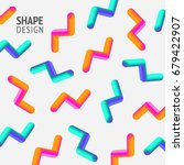 geometric shape colorful... | Shutterstock .eps vector #679422907