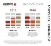 bar chart template   Shutterstock .eps vector #679423801