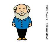 portrait  grandfather man...   Shutterstock .eps vector #679424851