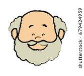 portrait  grandfather man...   Shutterstock .eps vector #679424959