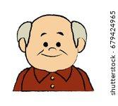portrait  grandfather man...   Shutterstock .eps vector #679424965