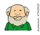portrait  grandfather man...   Shutterstock .eps vector #679425025