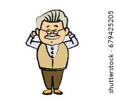 portrait  grandfather man...   Shutterstock .eps vector #679425205
