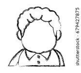 portrait  grandfather man...   Shutterstock .eps vector #679427875