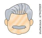 portrait of happy grandfather...   Shutterstock .eps vector #679429009