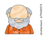 portrait of happy grandfather...   Shutterstock .eps vector #679430575