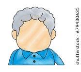portrait of happy grandfather...   Shutterstock .eps vector #679430635