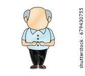 portrait of happy grandfather...   Shutterstock .eps vector #679430755