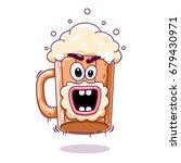 a cartoon beer mug  a screaming ... | Shutterstock .eps vector #679430971