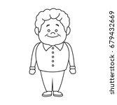 portrait happy grandfather man...   Shutterstock .eps vector #679432669