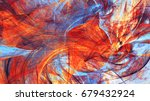 abstract red and blue motion... | Shutterstock . vector #679432924