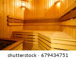 wooden sauna   Shutterstock . vector #679434751