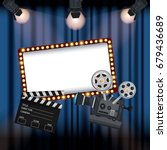 color background stage cinema... | Shutterstock .eps vector #679436689
