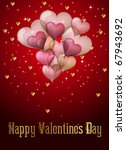 valentines day card with... | Shutterstock .eps vector #67943692