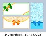 realistic color bows collection ... | Shutterstock .eps vector #679437325