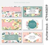 beautiful floral business card... | Shutterstock .eps vector #679440859