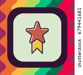 star badge icon with outline... | Shutterstock .eps vector #679441681