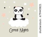 cute panda bear cartoon  panda... | Shutterstock .eps vector #679445821