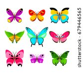 set of various colorful vector... | Shutterstock .eps vector #679446565