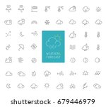 50 weather and forecast thin... | Shutterstock .eps vector #679446979
