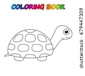 turtle   coloring book. ... | Shutterstock .eps vector #679447309