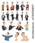 men lifestyle character... | Shutterstock .eps vector #679450897
