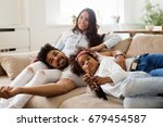 picture of happy family... | Shutterstock . vector #679454587