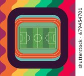 football stadium flat icon ... | Shutterstock .eps vector #679454701
