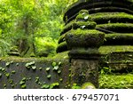 Small photo of Pillar head - Thai traditional style masthead of a temple fence.on Pliw waterfall. The landmark at Chanthaburi Thailand.