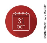 halloween date flat linear long ... | Shutterstock .eps vector #679459339