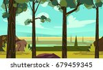 cute cartoon seamless landscape ... | Shutterstock .eps vector #679459345