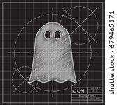 vector flat halloween icon.... | Shutterstock .eps vector #679465171
