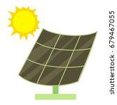 solar battery icon. cartoon...   Shutterstock .eps vector #679467055