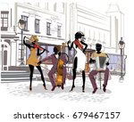 street musicians in the city.... | Shutterstock .eps vector #679467157