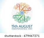abstract artistic tri color... | Shutterstock .eps vector #679467271