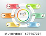 business concept infographic... | Shutterstock .eps vector #679467394